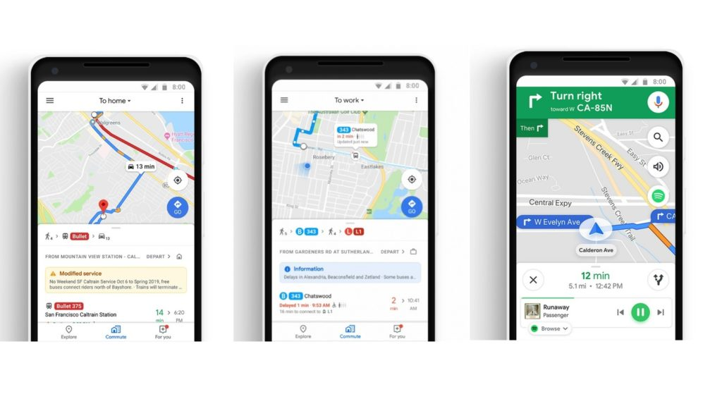 google maps commute update