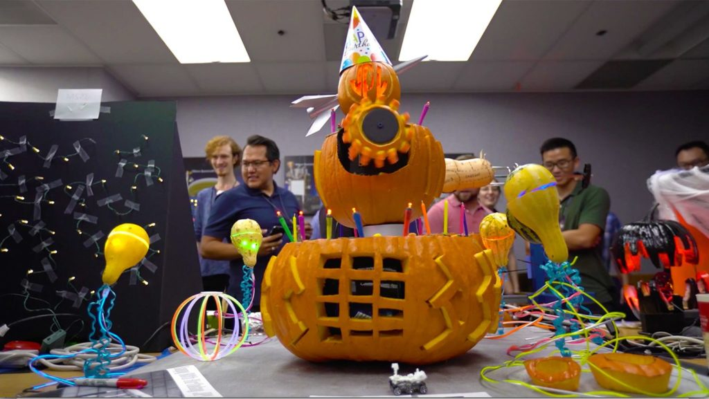nasa jpl halloween pumpkin carving contest