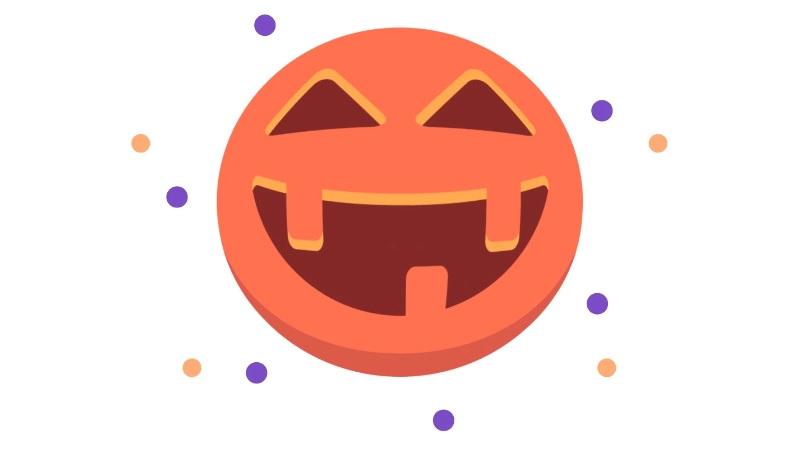 halloween twitter like button pumpkin