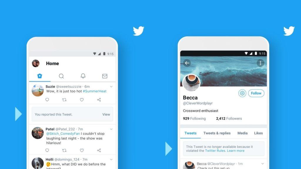 twitter reported tweets