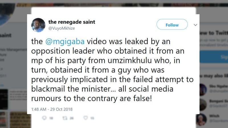 vuyo mkhize malusi gigaba opposition party tweet