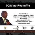 cyril ramaphosa cabinet reshuffle november 2018