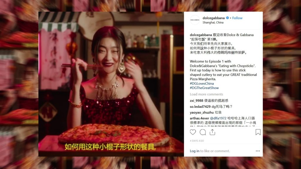 dolce gabbana china instagram