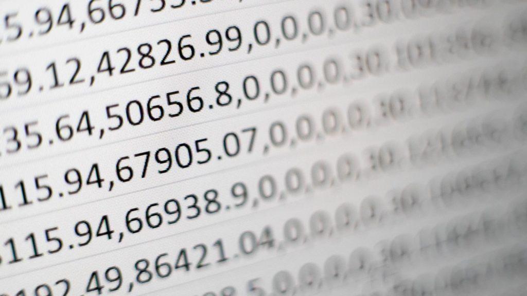 big data social media numbers mika maumeister unsplash
