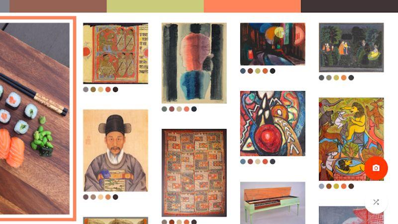 google arts and culture camera tab