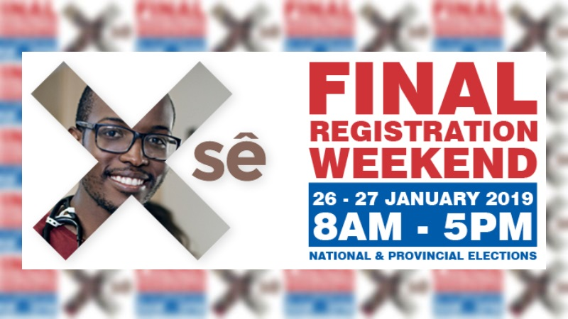 south africa voter registration weekend 2019 iec