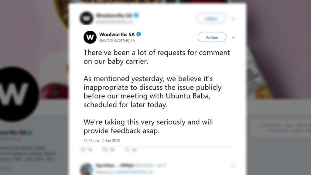 woolworths ubuntu baba twitter