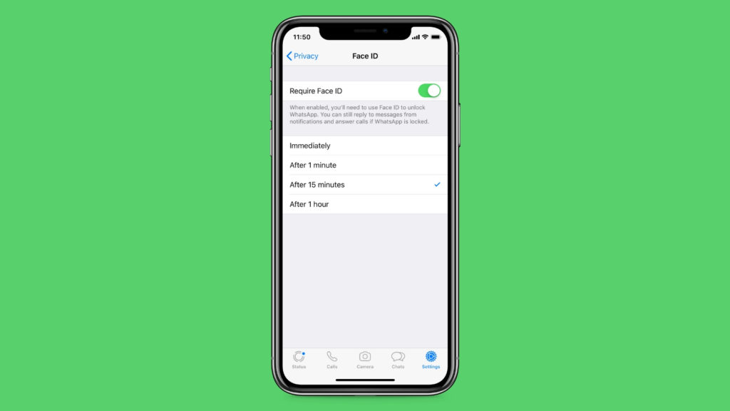 You can now lock WhatsApp with Face and Touch ID on iPhone