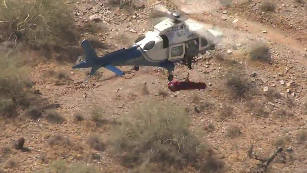phoenix woman helicopter rescue video fox 10