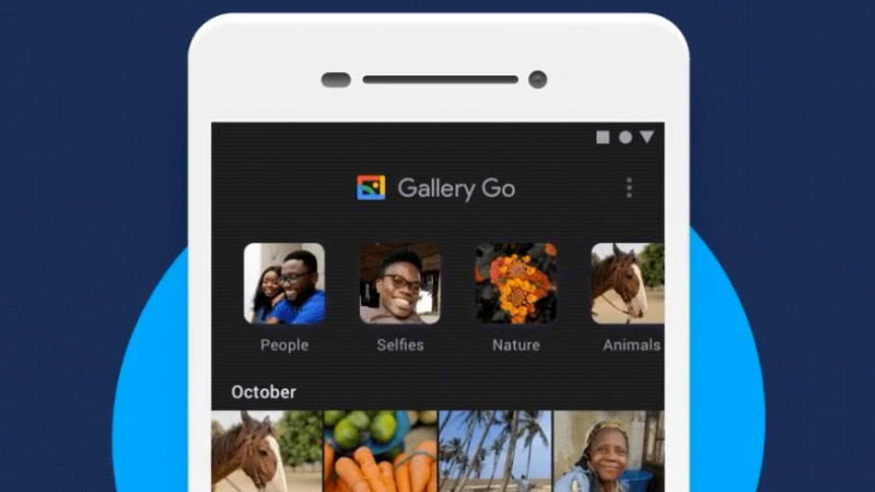 google gallery go dark mode