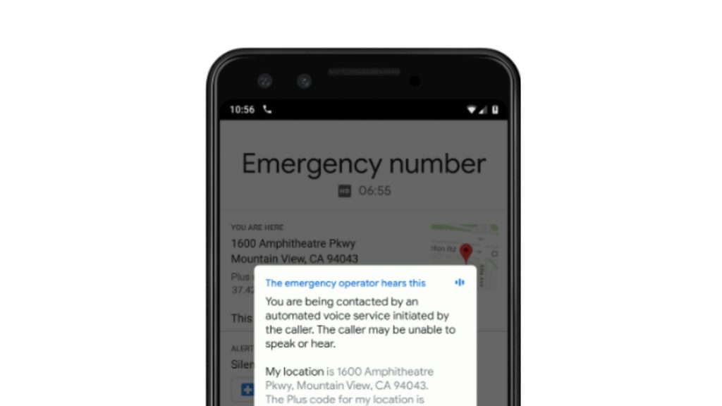 Google Phone emergency call