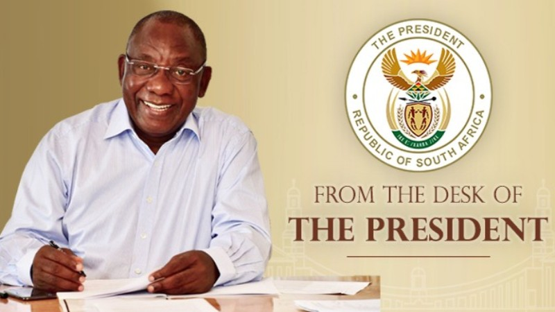 cyril ramaphosa newsletter from the desk of the president