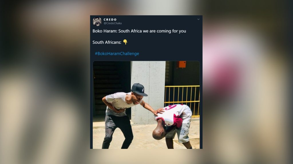 South Africa Has A Laugh With Bokoharamchallenge On Twitter