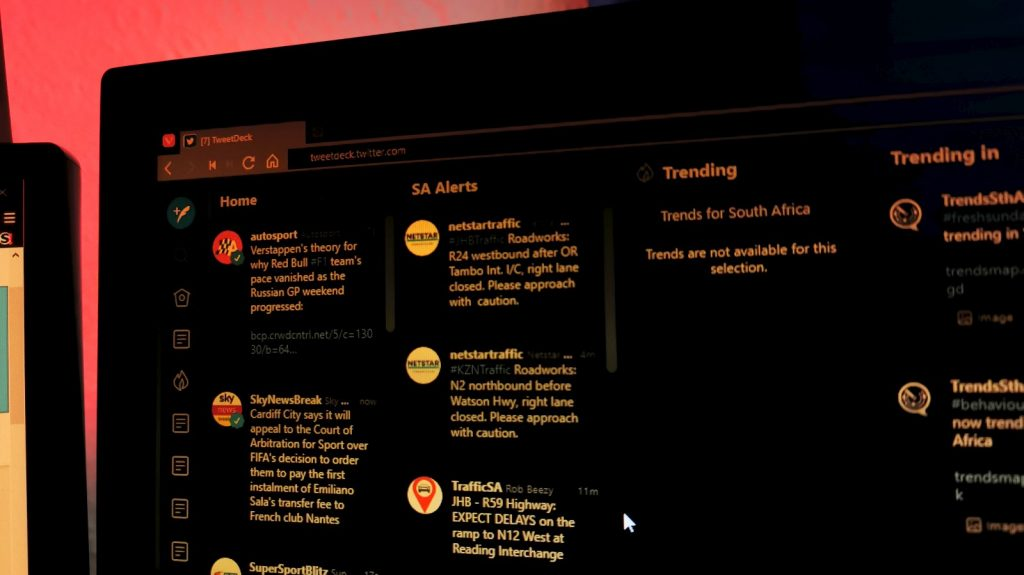 Twitter's Tweetdeck dashboard