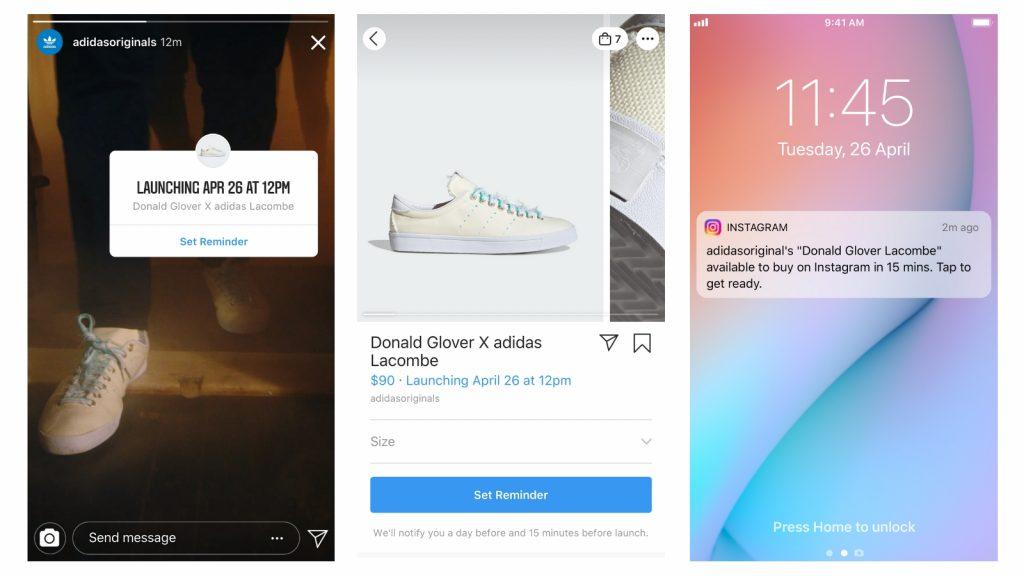 Instagram Shopping reminders