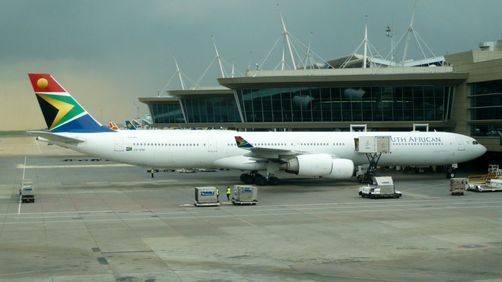south african airways a340-600 repatriation flight