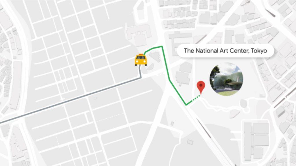 Google Maps translation feature