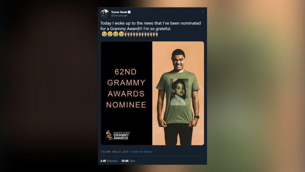 Trevor Noah grammy nomination
