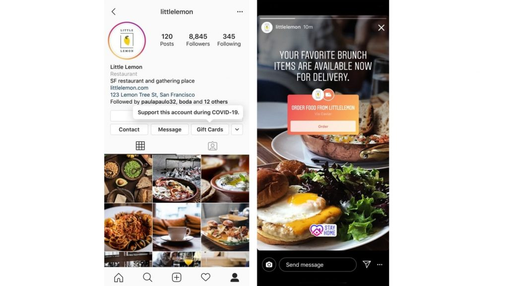 instagram covid 19 business