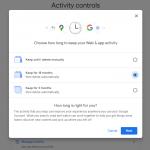 google account delete activity controls