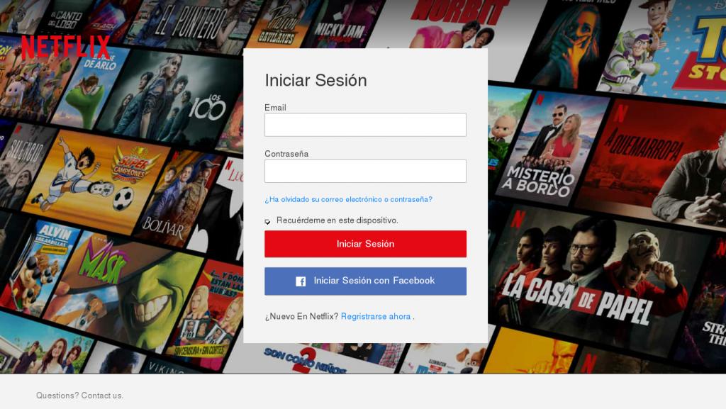 streaming scam false netflix login page