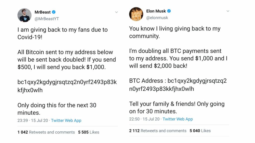twitter hack bitcoin scam accounts