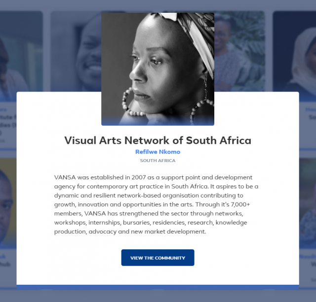 visual arts network south africa facebook