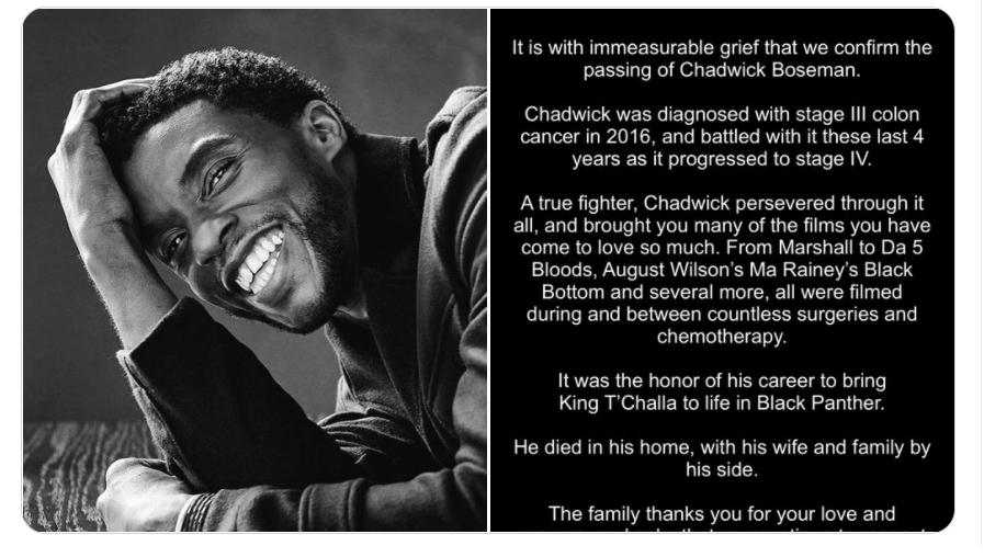 chadwick boseman eulogy tweet