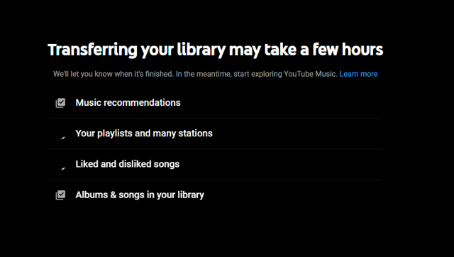 transfer library google play music