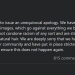 clicks apology hair