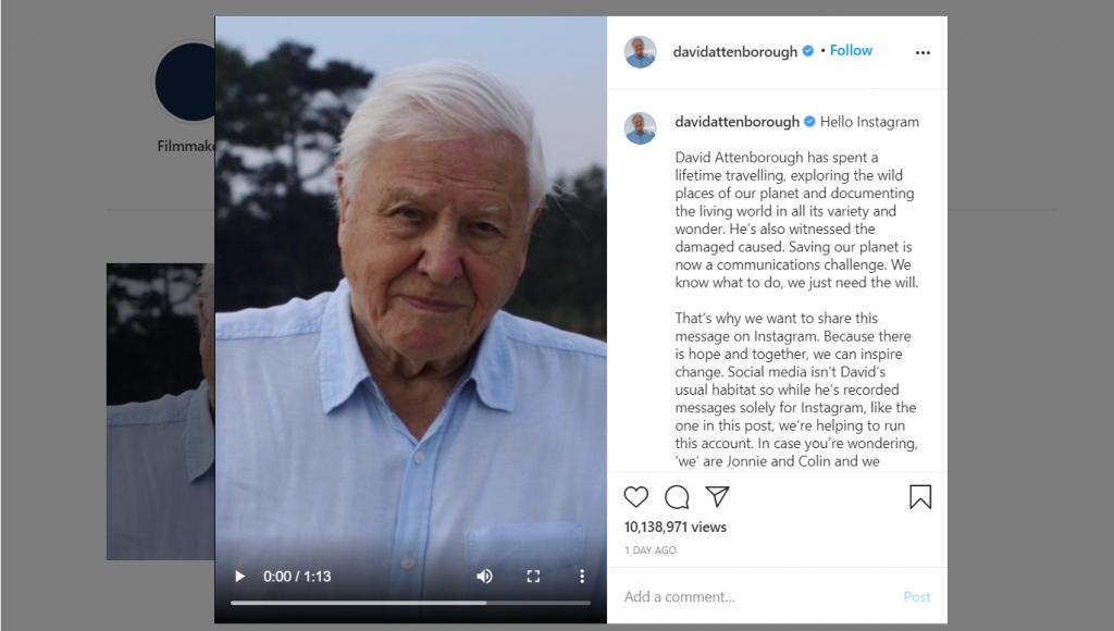 david attenborough instagram