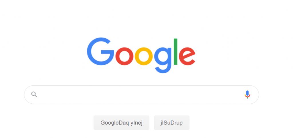 google klingon version
