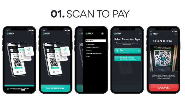 scan to pay Ozapp cardless payment app