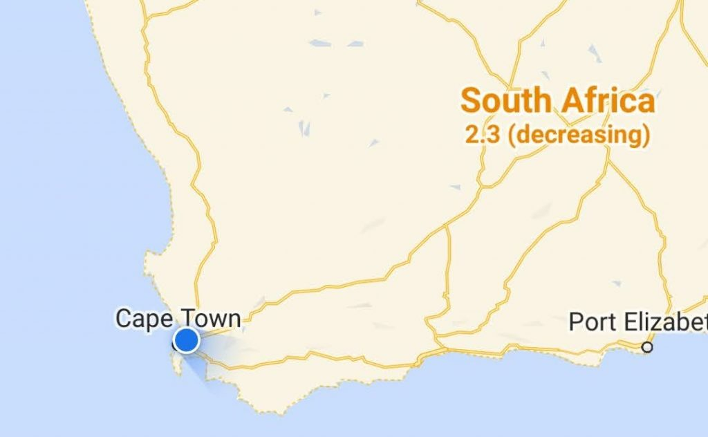 south africa coronavirus google maps