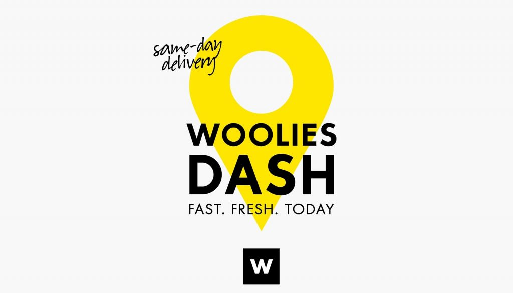 woolies dash same day grocery delivery app