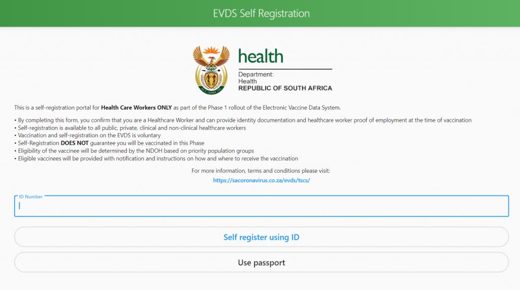 vaccine register website south africa