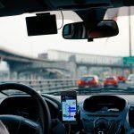 Uber driver rides e-hailing