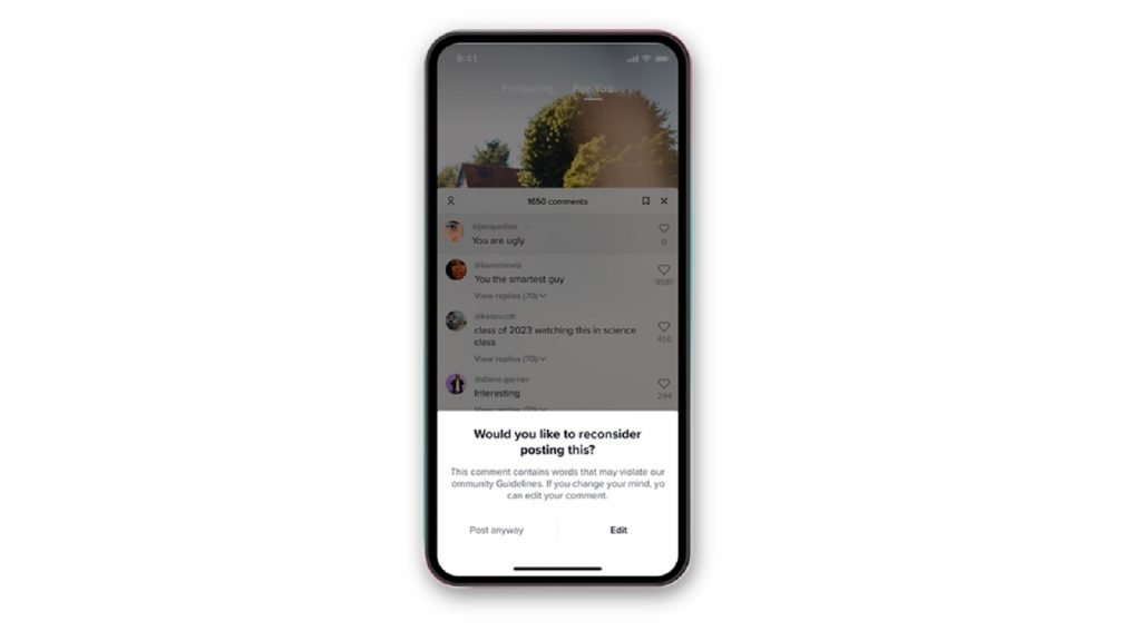 Tiktok comments features prompts fact checking