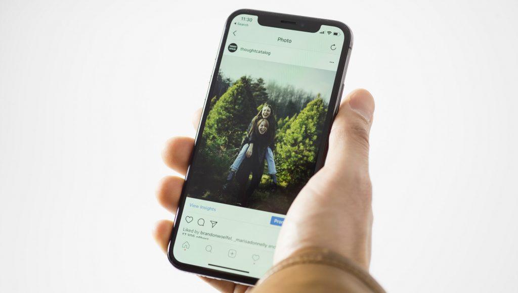 Instagram account user profile mobile device