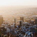 Cape Town City Sunset buildings