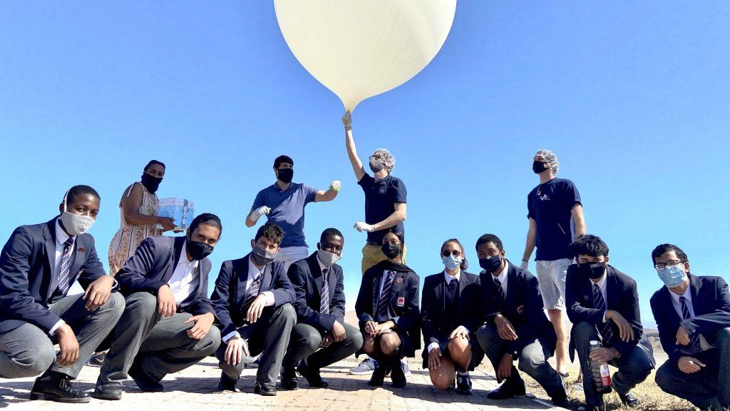 ExoLab I-Innovate Saldanha weather balloons Earth Day