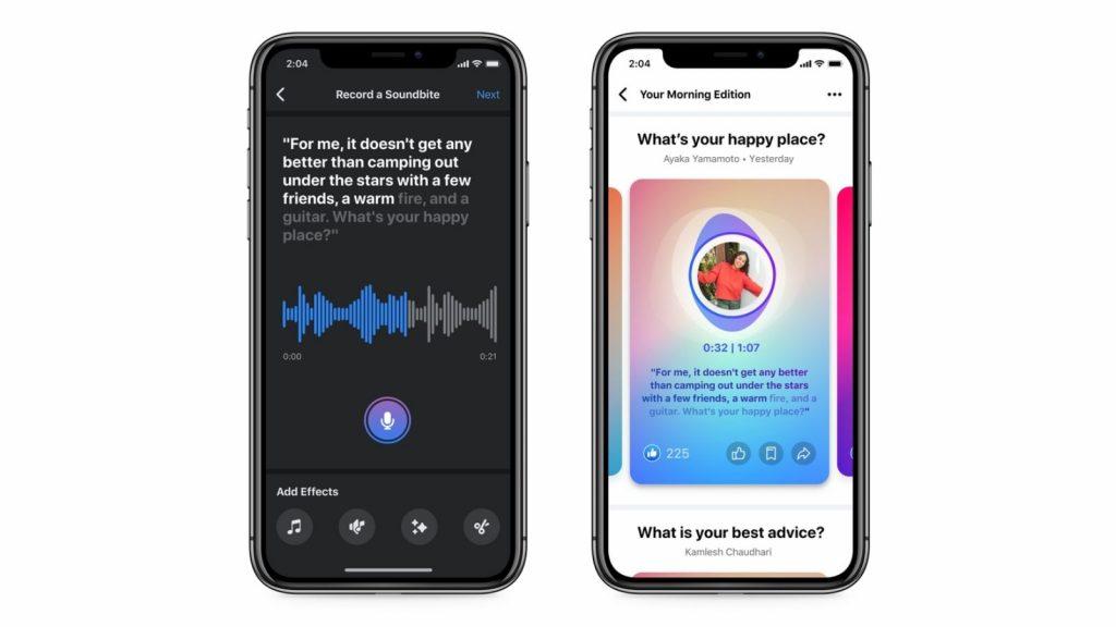 Facebook audio Soundbites