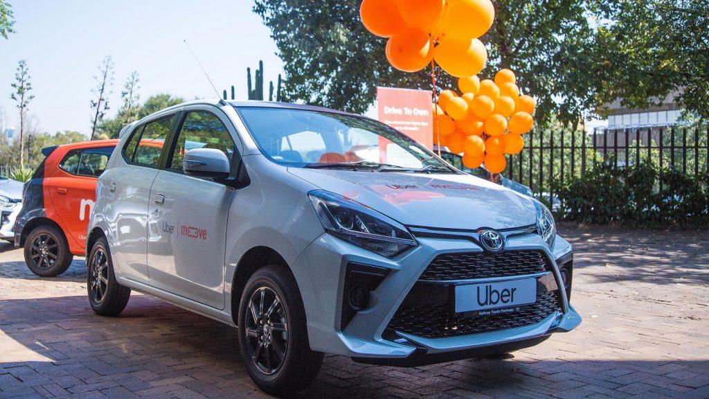 Uber Go Moove partnership Toyota Agyas South Africa