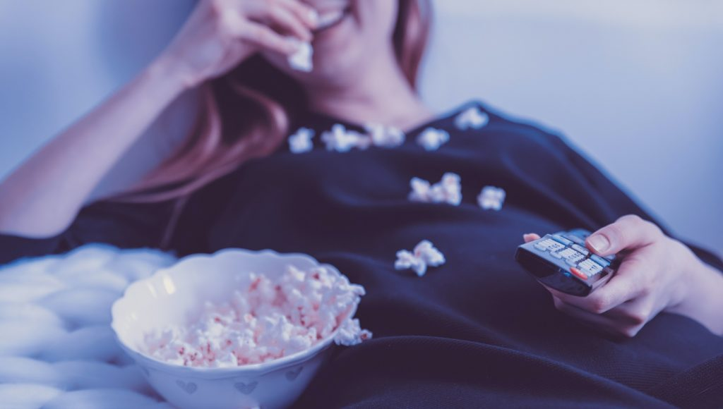 movie TV streaming popcorn