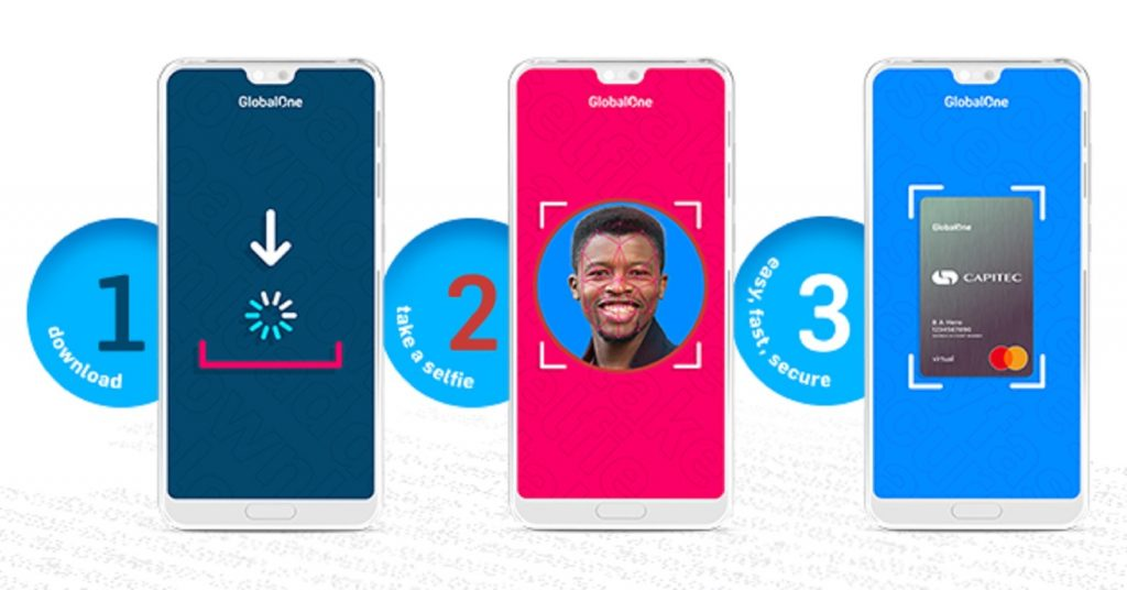 Capitec Bank South Africa smartphone app biometric facial security account