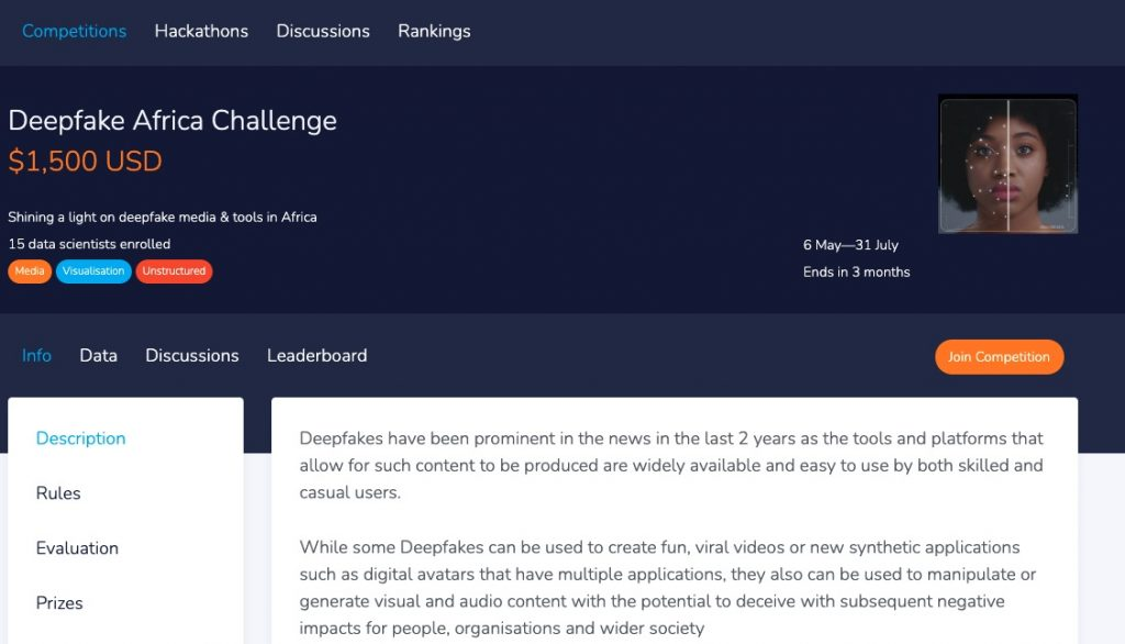 Deepfake Africa Challenge AI Group Expo South Africa deep fake