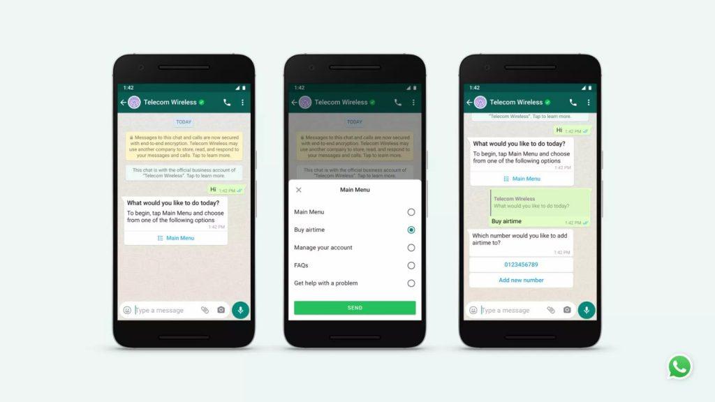 WhatsApp Business API instant messaging
