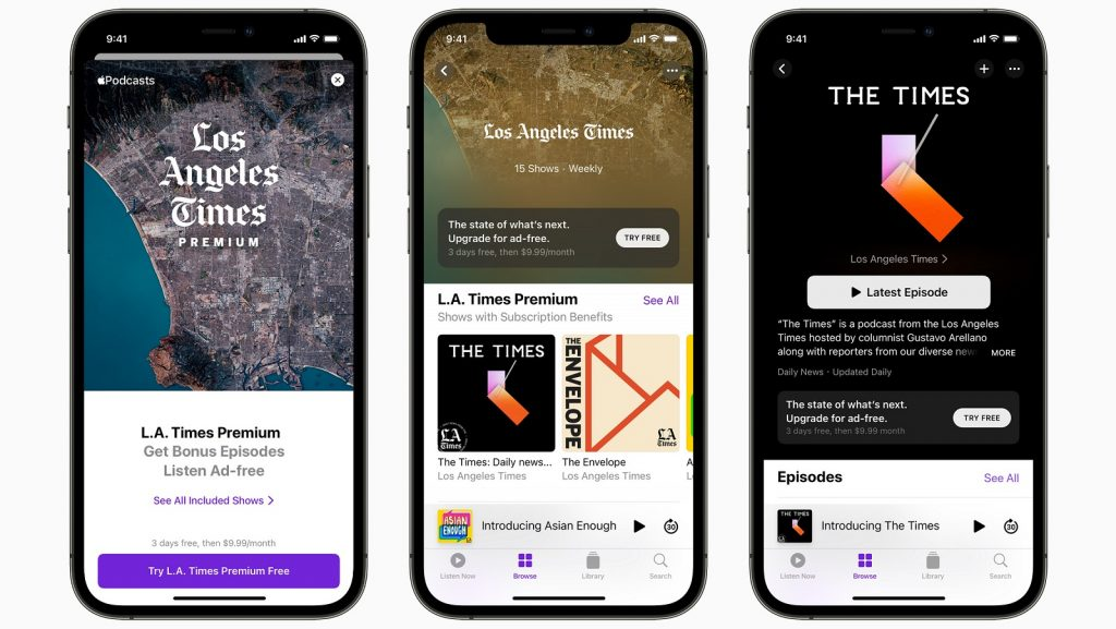 Apple Podcasts Subscriptions app