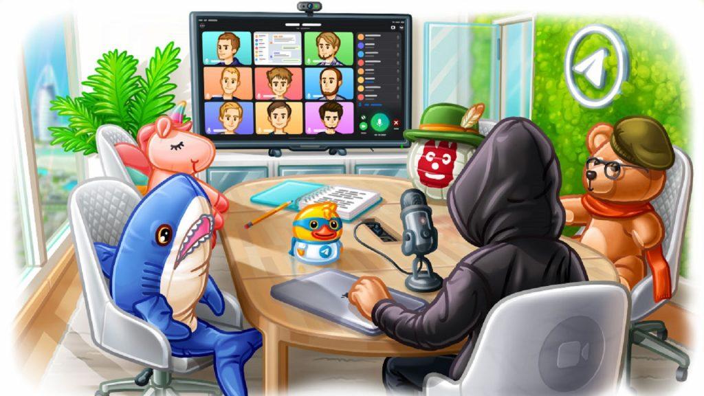 Telegram video calls voice participants instant messaging app