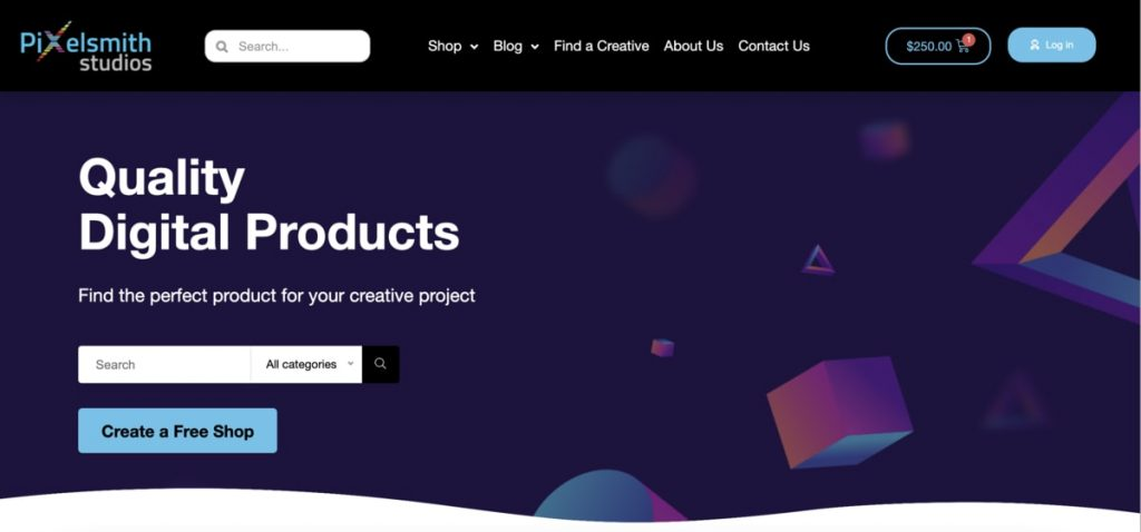 Pixelsmith Studios Creatives marketplace digital products South Africa
